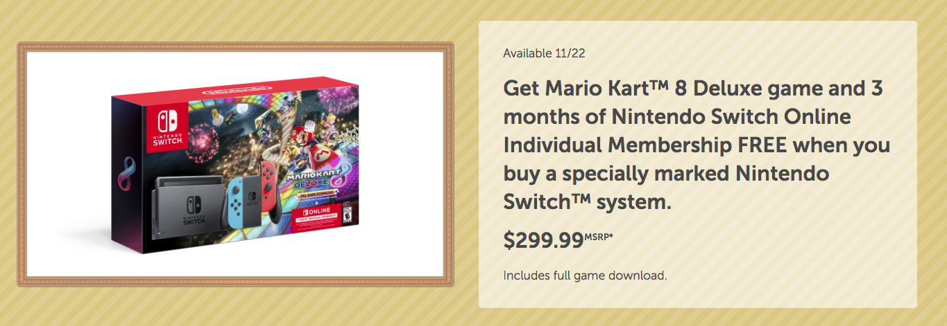 Nintendo Black Friday deals-Mario Kart