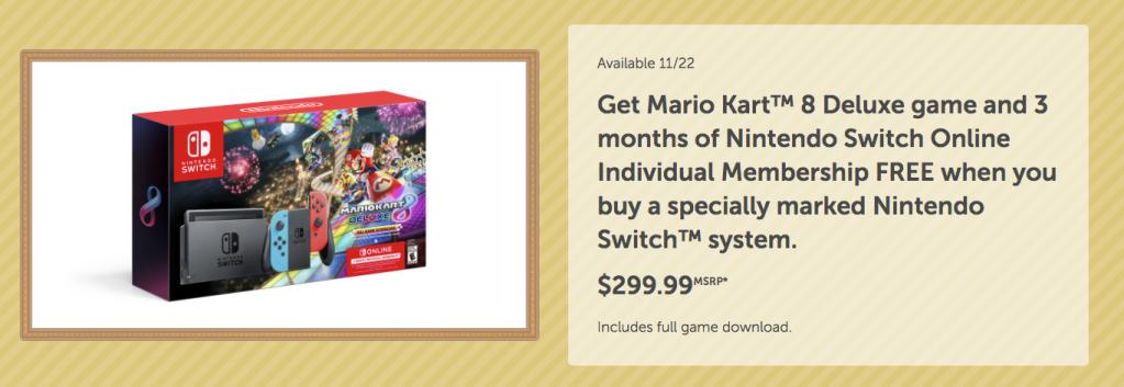Nintendo Black Friday deals-Mario Kart