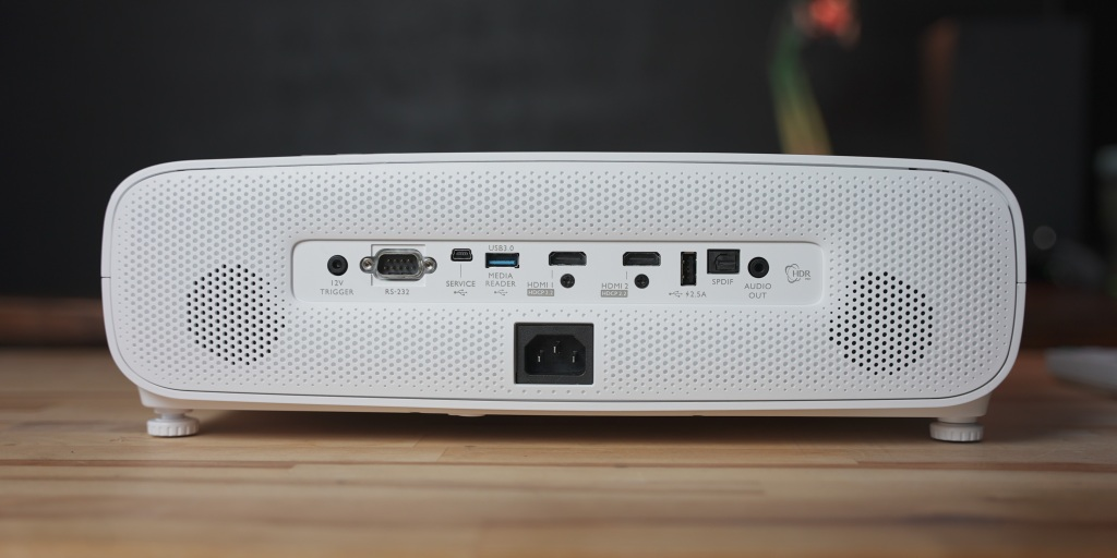 Lots of ins and outs make it easy to integrate the TK850 into a home theater
