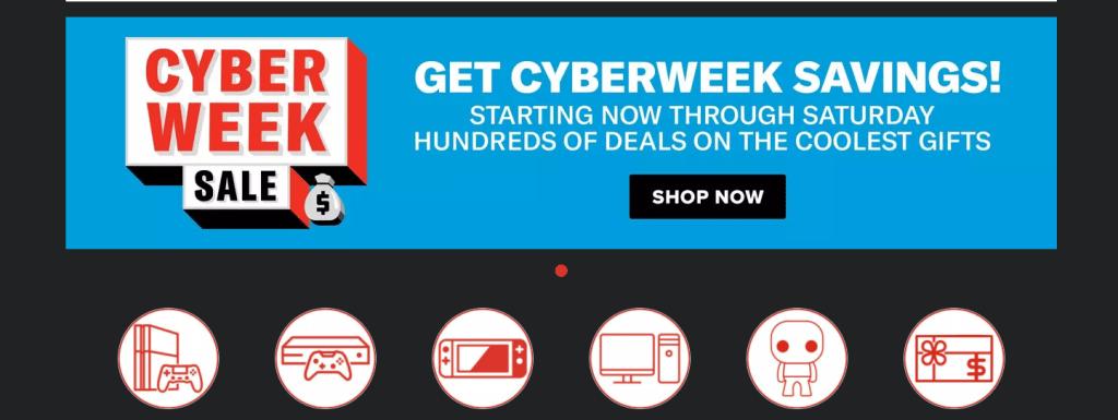 GameStop Cyberweek sale