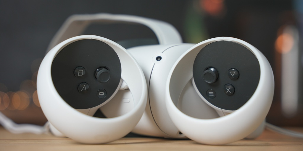 Controllers have thumbsticks, two face buttons and menu buttons.