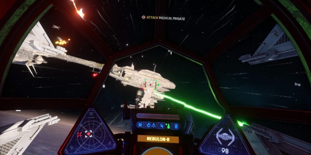 Star Wars: Squadrons can be played when connected to a PC via Oculus Link.