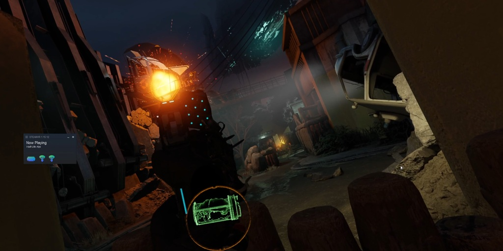 Half-Life: Alyx is another great game available via Oculus Link.