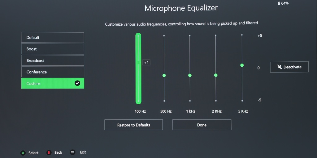 Mic EQ on the Razer Kaira Pro can be adjusted in the Razer Headset for Xbox app