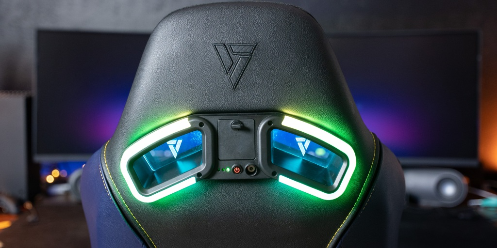 The back of the SL5000 RGB kit shines just as bright as the front and integrates seamlessly into the chair.