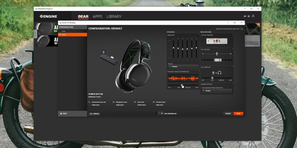 Audio can be customized through the SteelSeries Engine 3 app
