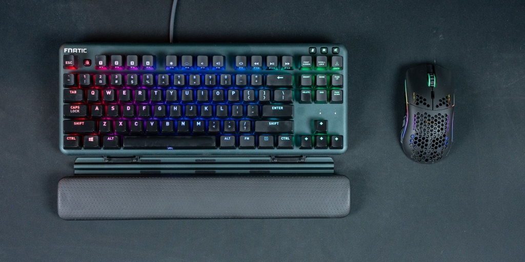The miniSTREAK is a well built keyboard with high quality name-brand switches.