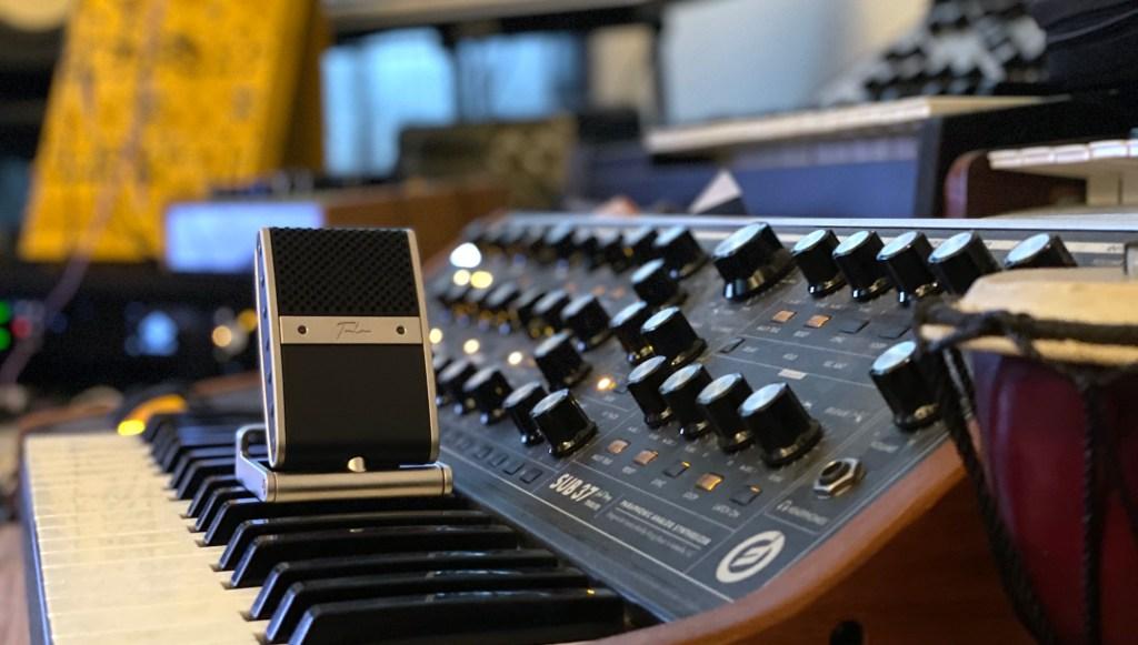Tula Mic in studio
