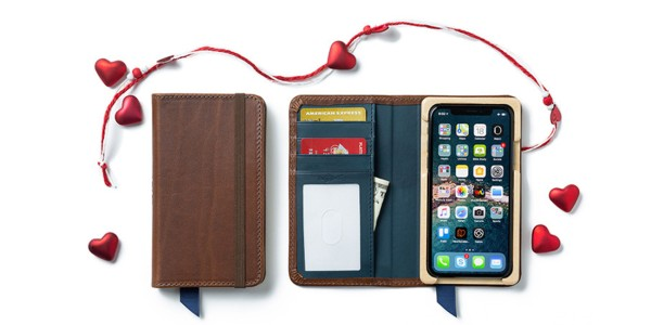 Valentine's Day iPhone case and leather desktop accessory sale