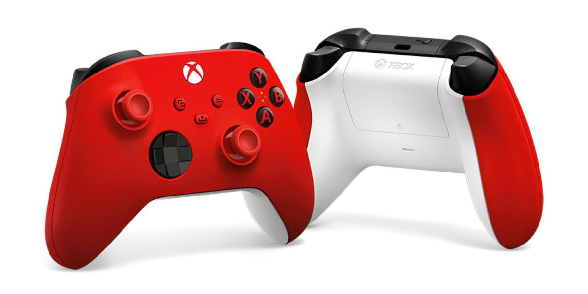 Pulse Red Xbox Controllers hero