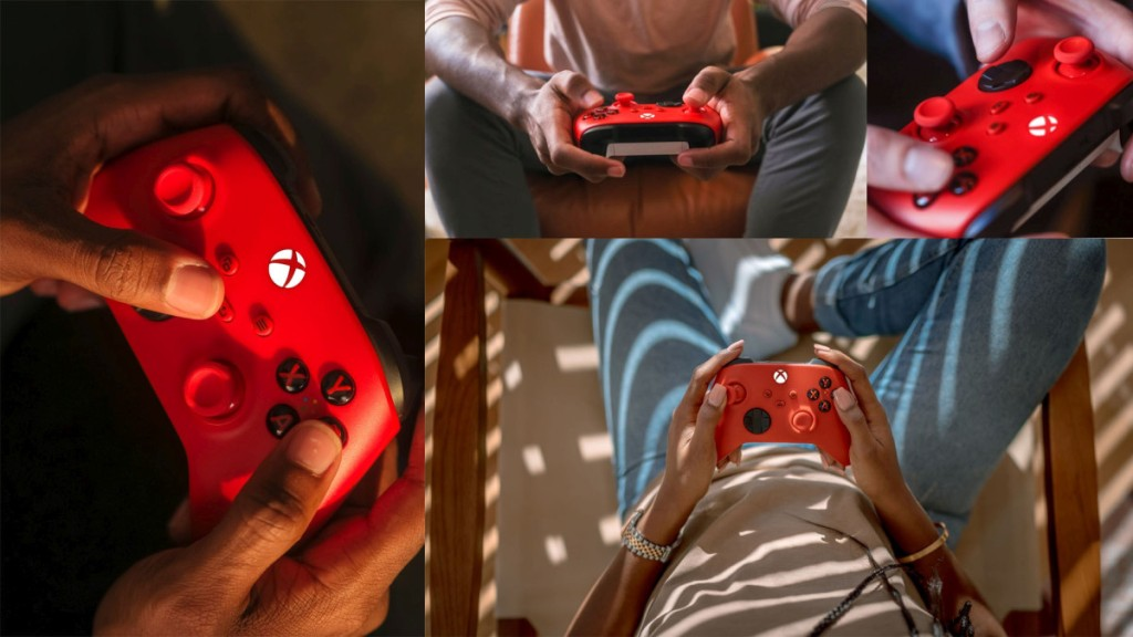 Pulse Red Xbox Controllers
