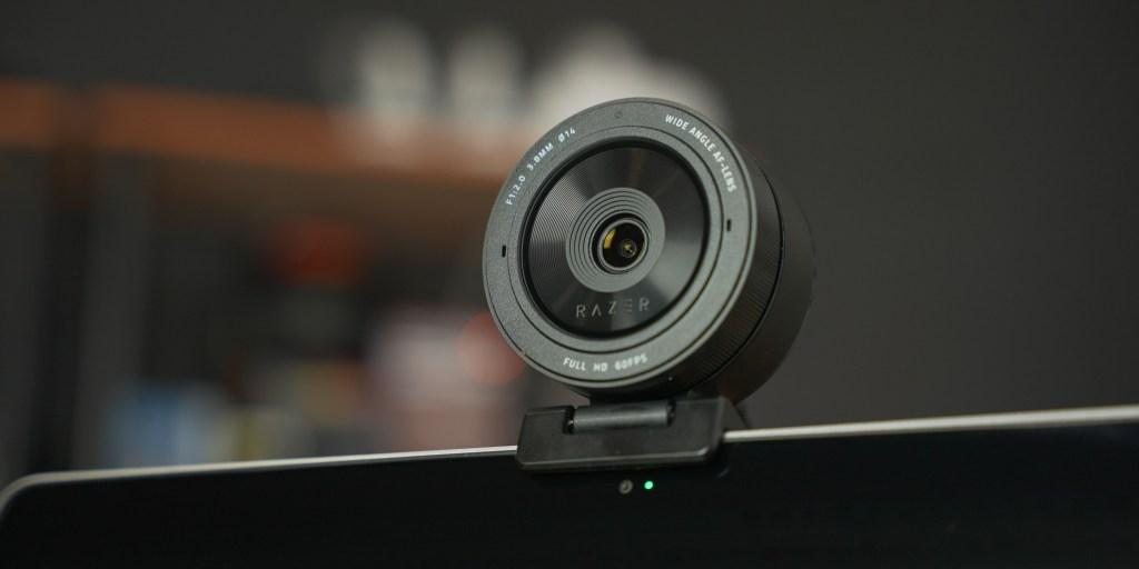 Razer Kiyo Pro on top of a laptop.