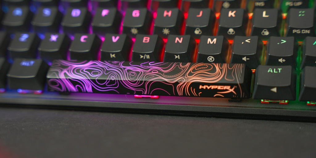 A stylized HyperX space bar is also included with the HyperX Alloy Origins 60