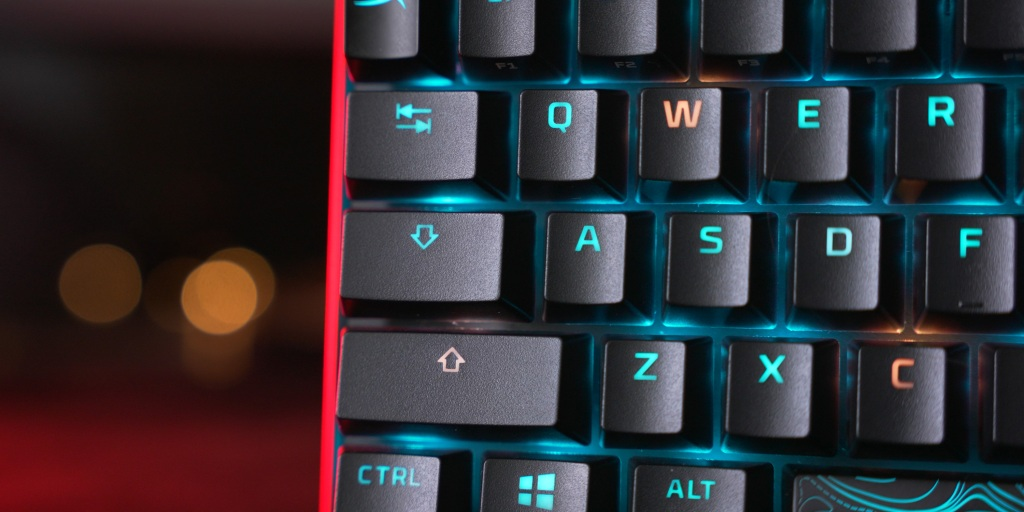 PBT double shot keycaps look and feel great with a little bit of texture.