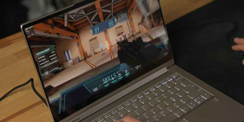gaming on the Lenovo Yoga 9i is possible at low settings.
