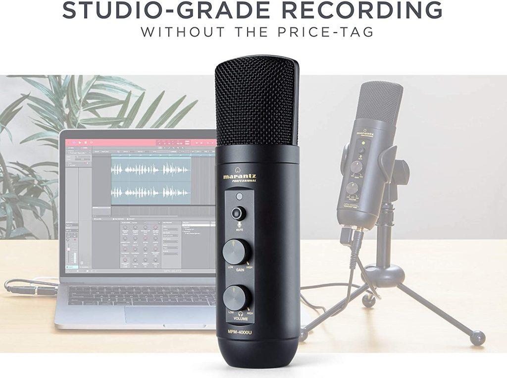 Marantz USB-C podcasting microphone