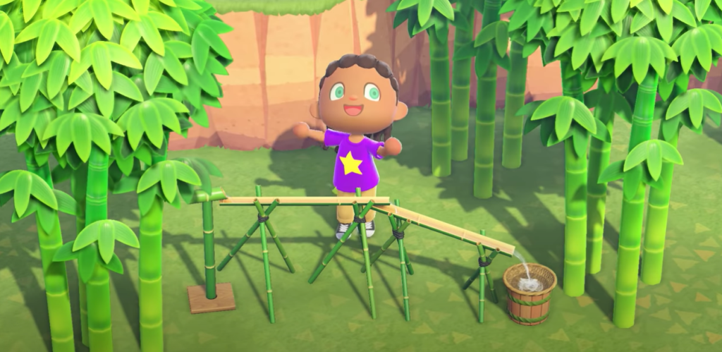 March Animal Crossing update bamboo