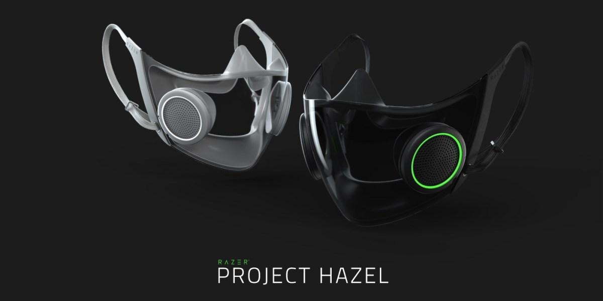 Razer face mask with RGB lighting