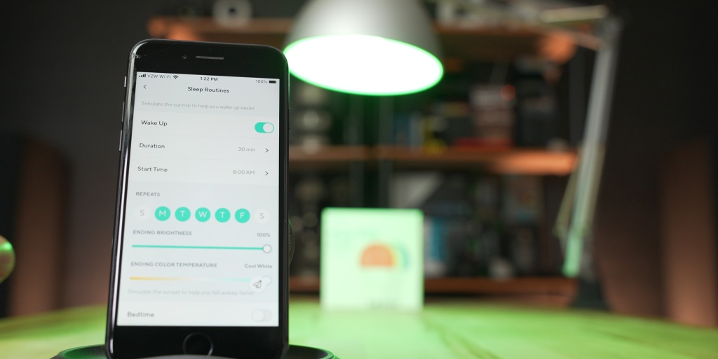 Wyze Bulb Color adjustments and routines are easy to set up within the Wyze App.