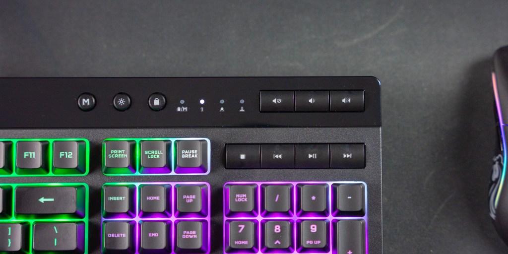 media keys on the Corsair K55 RGB Pro XT