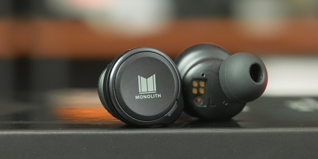 close-up on the buttons of the Monolith M-TWE