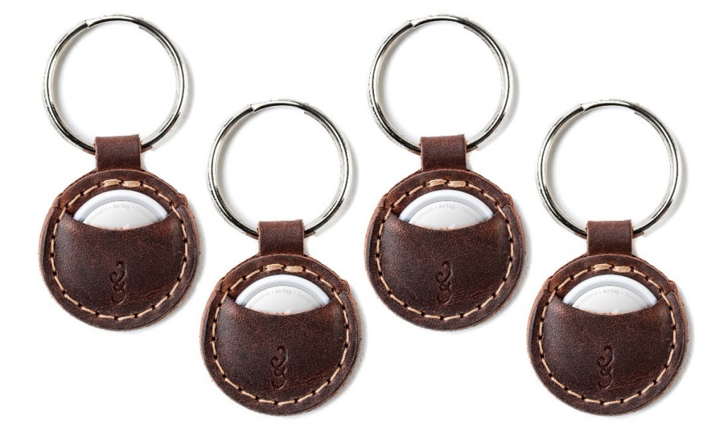 Pad & Quill leather AirTags keychain