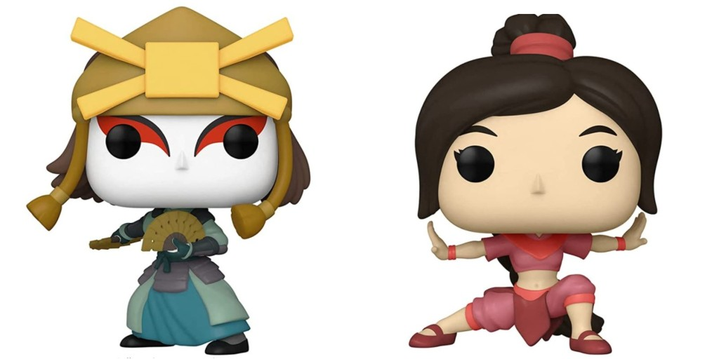 Funko POP! figures. Suki on the left, Ty Lee on the right.