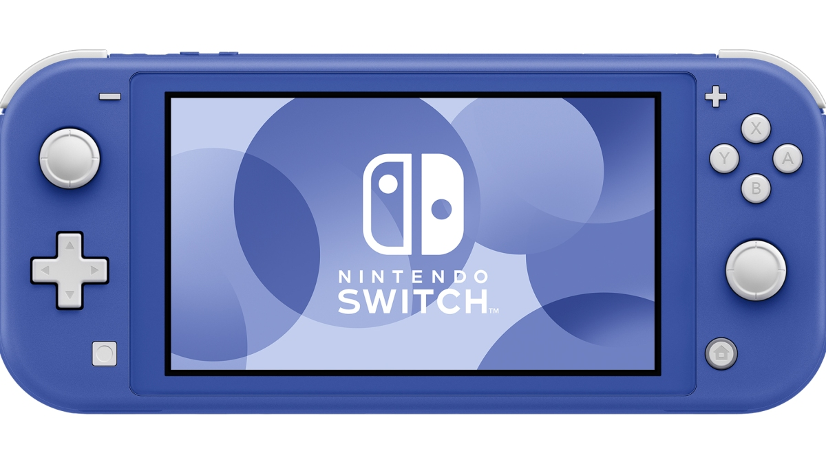 new Nintendo Switch Lite in blue