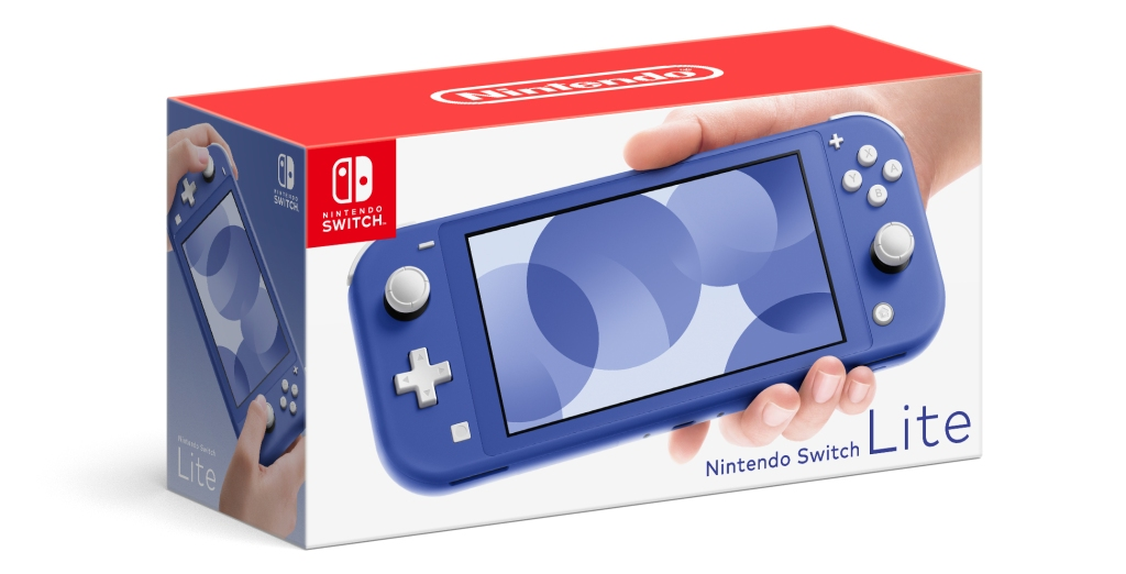new Nintendo Switch Lite in blue box
