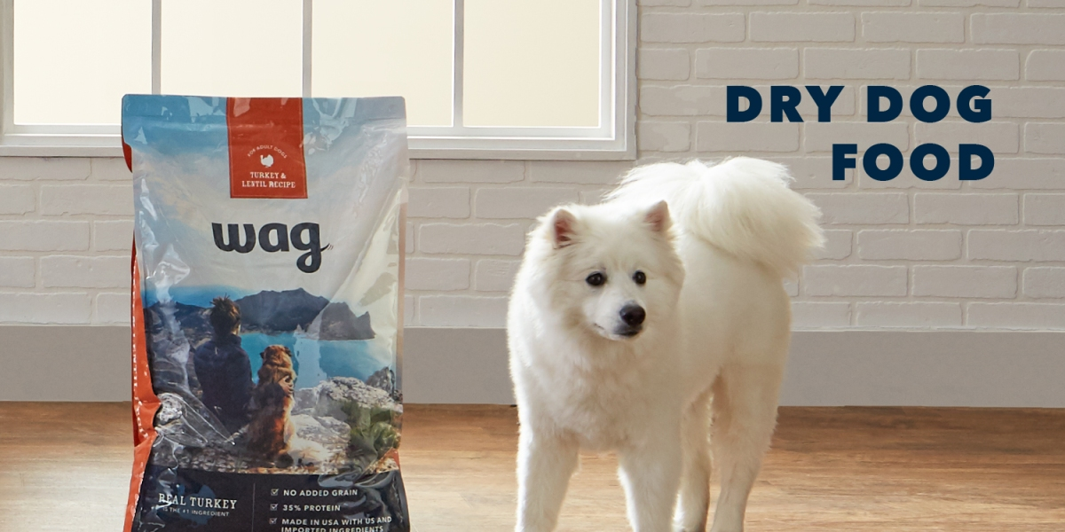 Amazon Wag dog food and pet treats