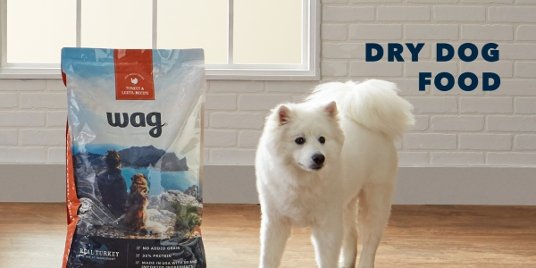 Amazon Wag dog food and pet treats
