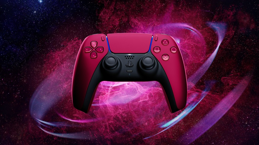 DualSense controller colors Midnight Black  and Cosmic Red