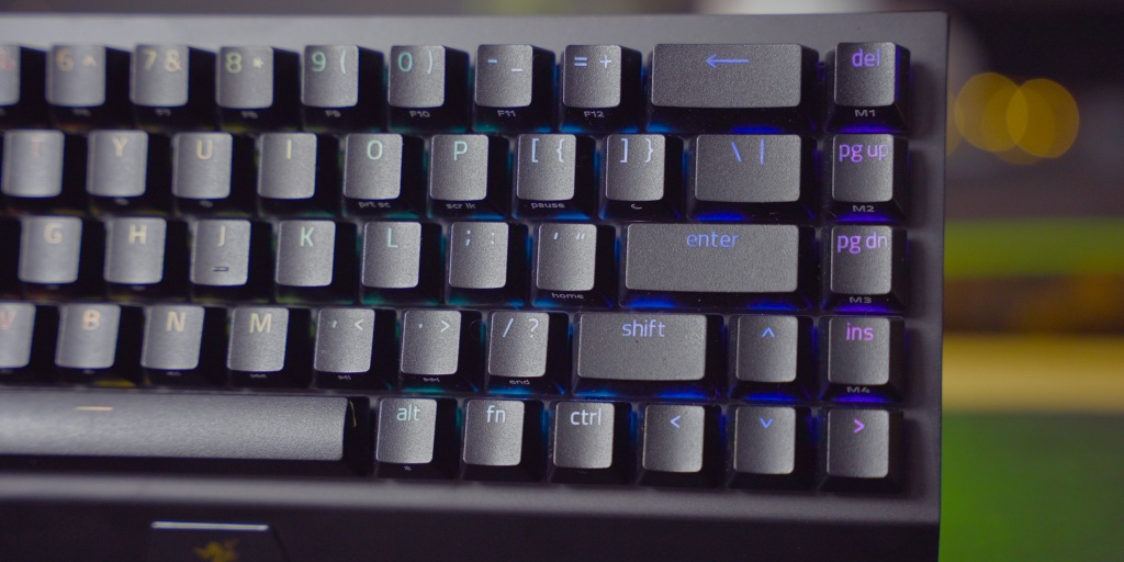 A 65% keyboard keeps some of the convenience of navigation by adding a single row to the smaller form factor of a 60% keyboard.