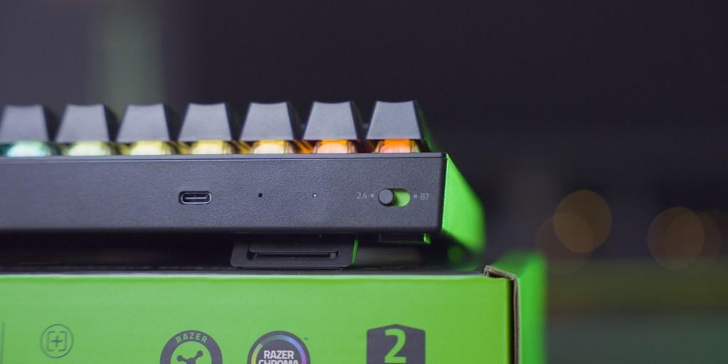 Three modes of connection make the BlackWidow V3 Mini versatile.