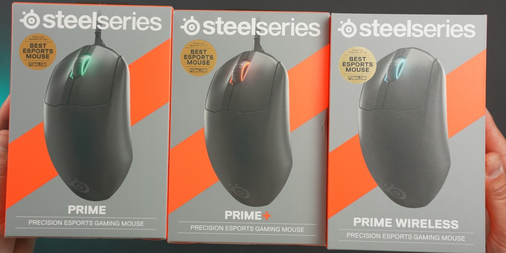 The SteelSeires Prime mice each have unique features for competitive players