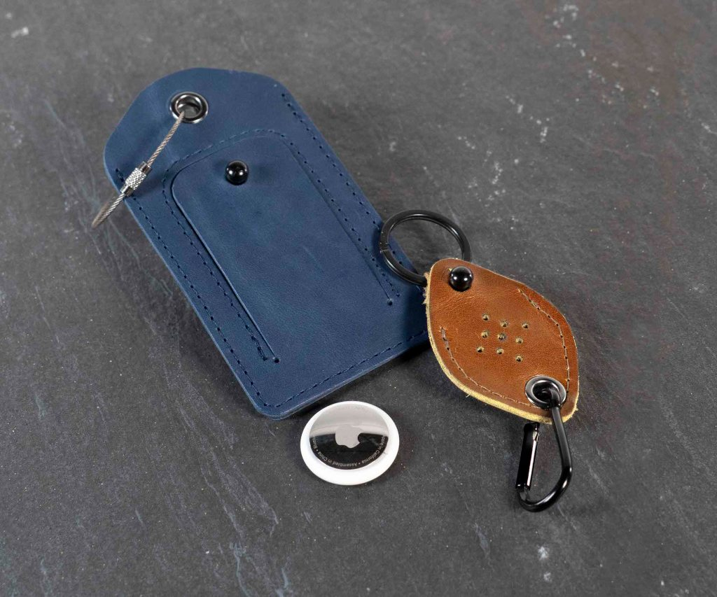 WaterField AirTag luggage tag and keychain