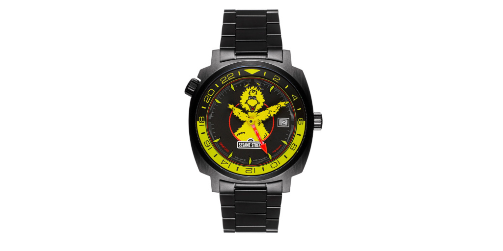 Bamford's Big Bird GMT watch on a blank white background.