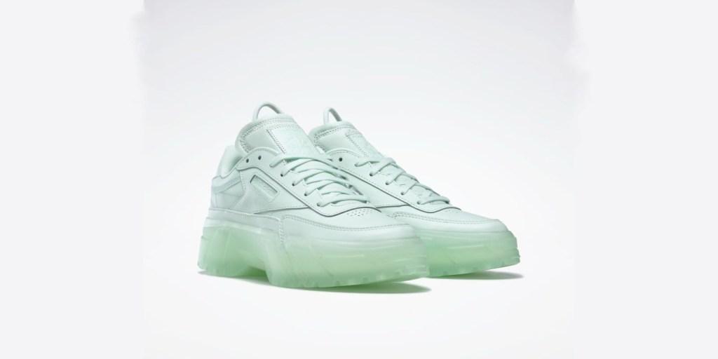 Cardi B x Reebok women's club c shoe in mint