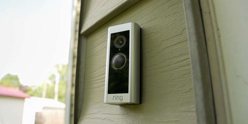 The Ring Video Doorbell Pro 2 has a simple and clean design.