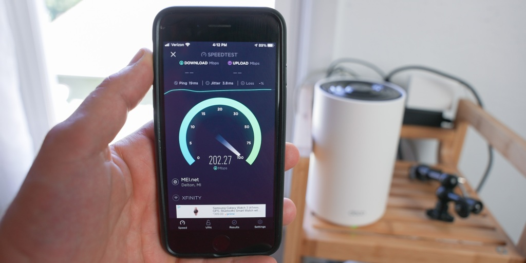 Checking speeds on the second TP-Link Deco X68 unit.