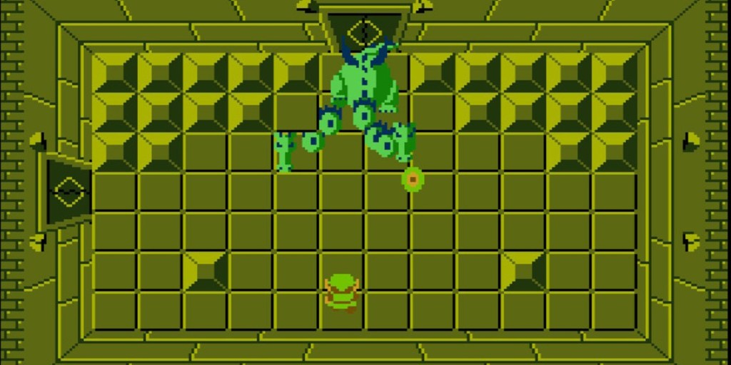 gameplay from the original The Legend of Zelda game for NES