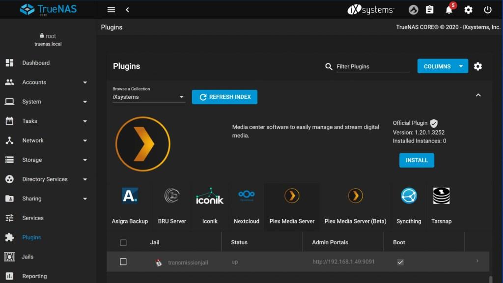 truenas review plugins