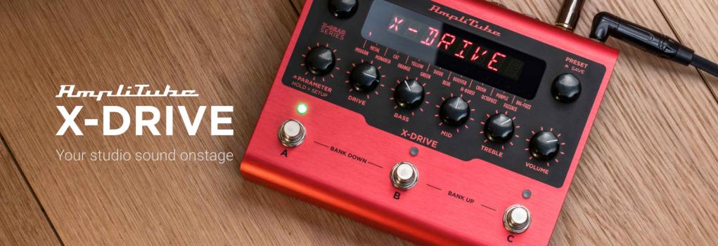 AmpliTubeX-GEARdigital effects pedals X-DRIVE