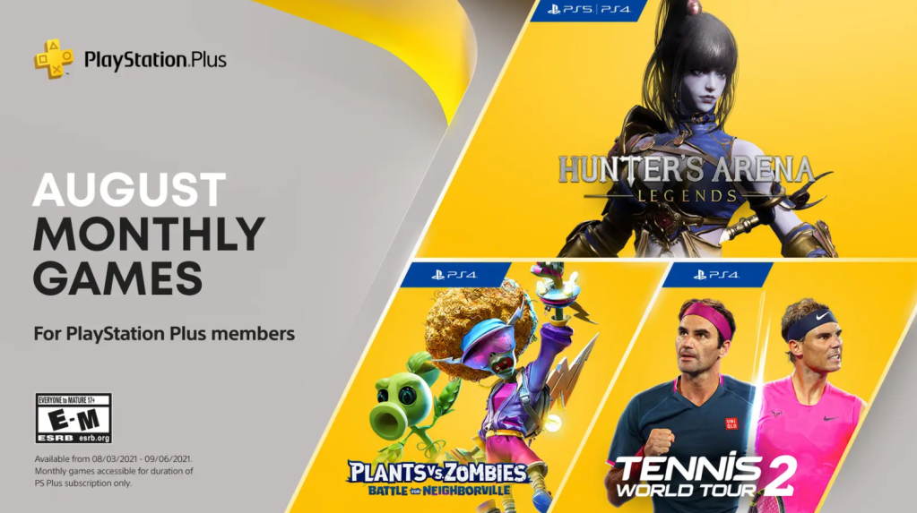 August PlayStation Plus FREE games