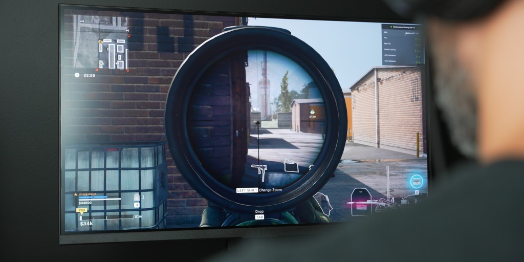 Fast-paced shooters are great on the Dark Matter 27-in monitor