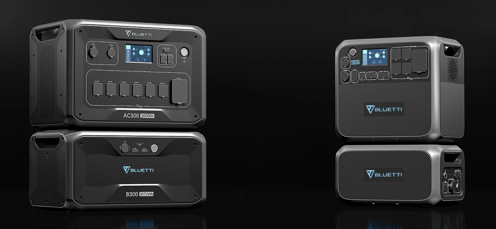 New AC200 MAX and AC300 BLUETTI power stations