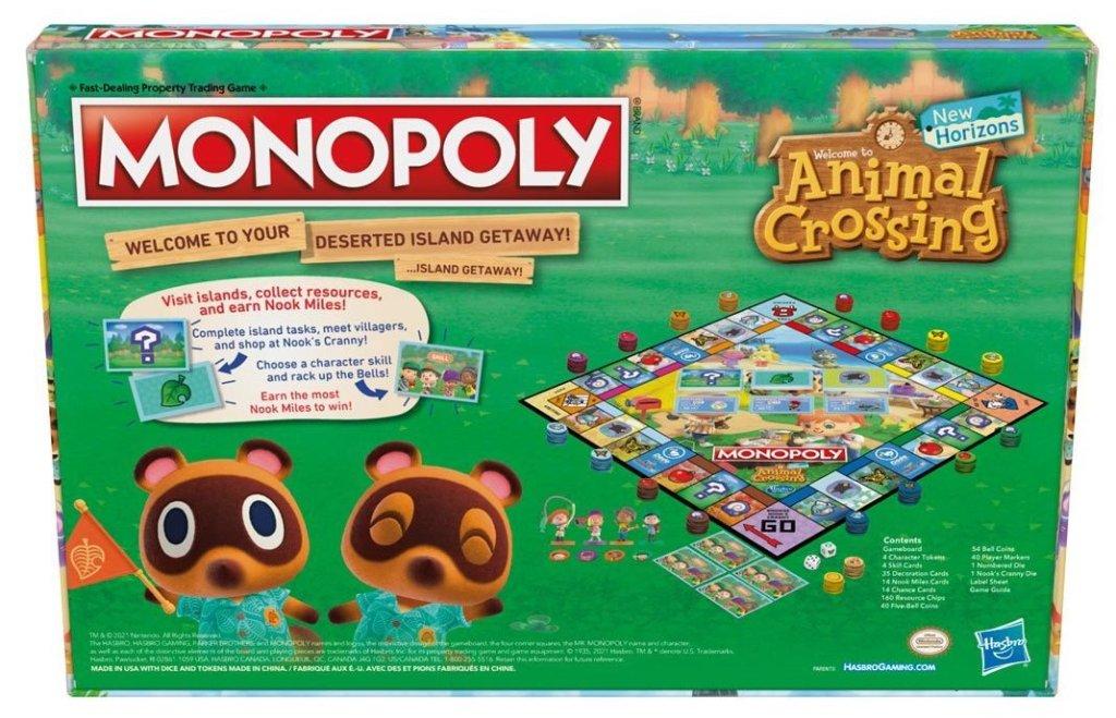 Monopoly Animal Crossing Edition back