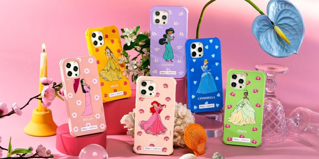 a variety of customizable phone cases from the CASETiFY Disney princess collection