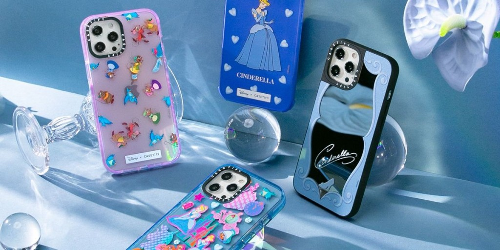 all of the Cinderella phone cases from the CASETiFY disney princess collection