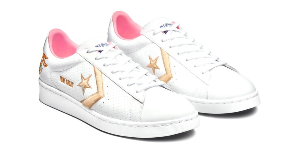 """""""Lola"""" leather court lows from the COnverse Space Jam collection"""